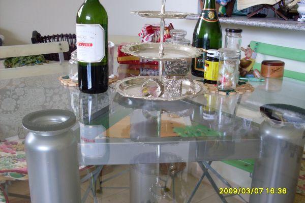 Table a manger (Fer et verre!)