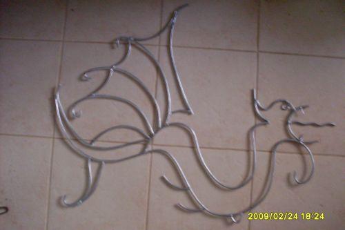 Dragon decorative pour exterieur (Avec du fer )